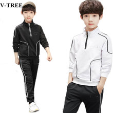 Spring Autumn Boys Clothing Set 2019 Kids Tracksuit Long Sleeve Sweatshirts+pants Clothes Sets For Teenager Sports Suits 4 12T