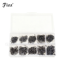 500Pcs/box Size #3-#12 High Carbon Steel Fishhooks Circle Hooks Fishing Hook Barbed Fishhook Set Carp Tackle Accessories