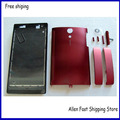 New Housing Cover For Sony Xperia Ion LT28i LT28H LT28 Front Cover Middle Bezel Battery Back Door +Buttom Cap + Logo