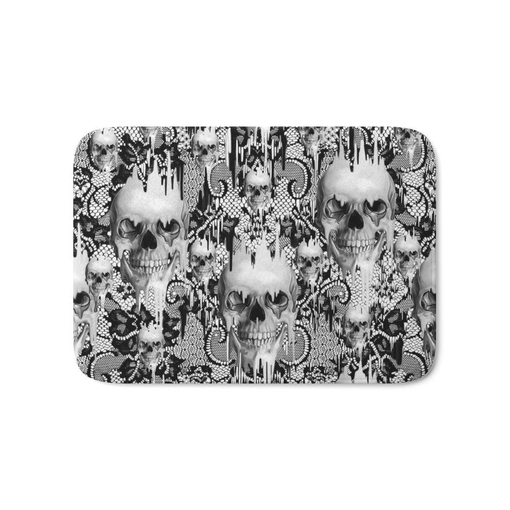 Home Entrance Doormat Victorian Gothic Lace Skull Pattern Fashion Rectangular Mats Bathroom Kitchen Anti Slip Floor Mat In From Garden On