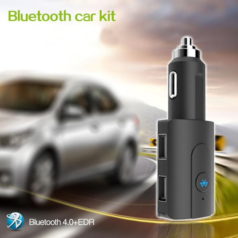 2018 Hot selling Bluetooth Car Kit MP3 FM Transmitter USB Charger Handsfree For iPhone Car Charger 5V 1.5A/2.1A Dropshipping