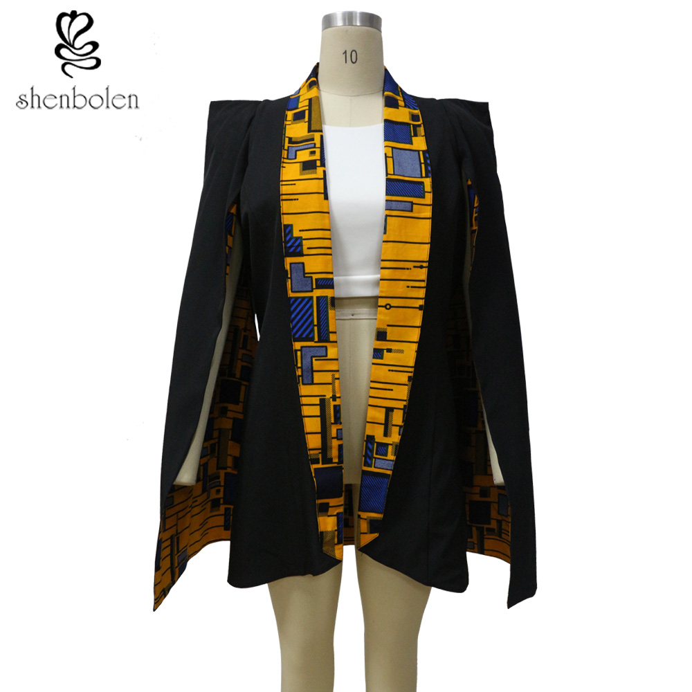African coat for women fashion Both sides wear jacket true wax fabric 100% pure cotton Suit Tradition dashiki print shenbolen