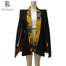 African coat for women fashion Both sides wear jacket true wax fabric 100% pure cotton Suit Tradition dashiki print shenbolen