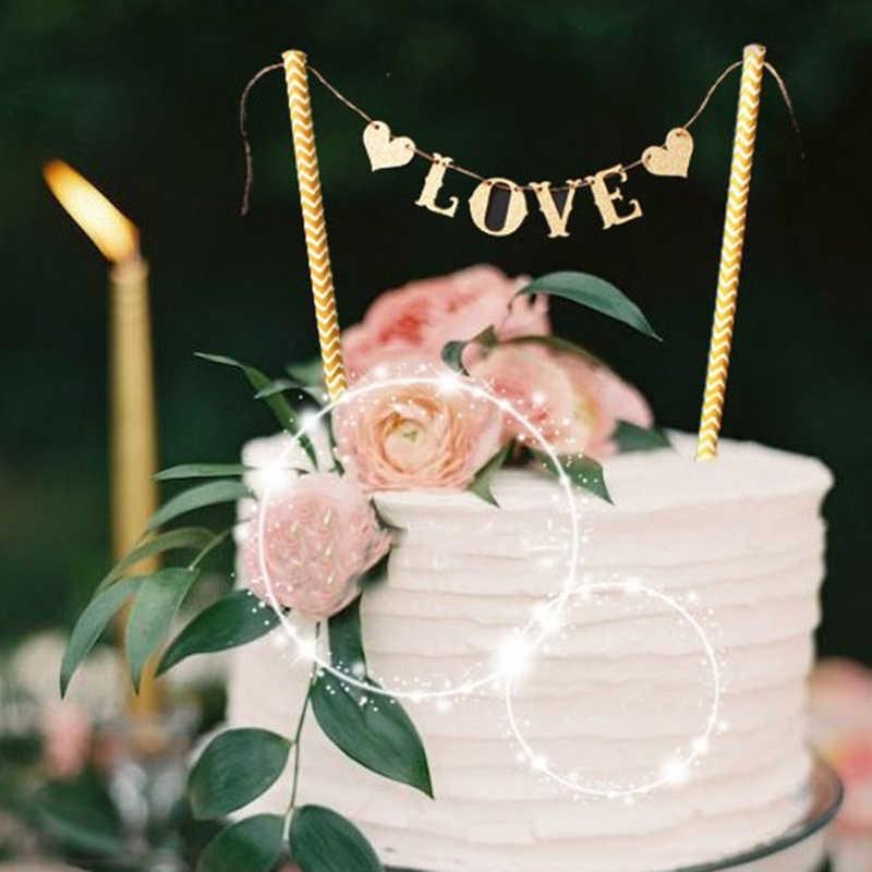 1 комплект Новое поступление флажки «любовь» свадебный торт комплект экстракласса для свадебной вечеринки украшения материалы для украшения тортов