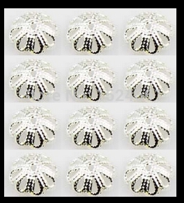 wholesale 500pcs 7mm silver/flower bead caps ** watchs watch s cap clasp component connector hook material