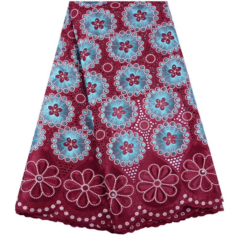 New Design Swiss Voile Lace In Switzerland African Lace Fabric With Stones Tulle Lace Fabric High