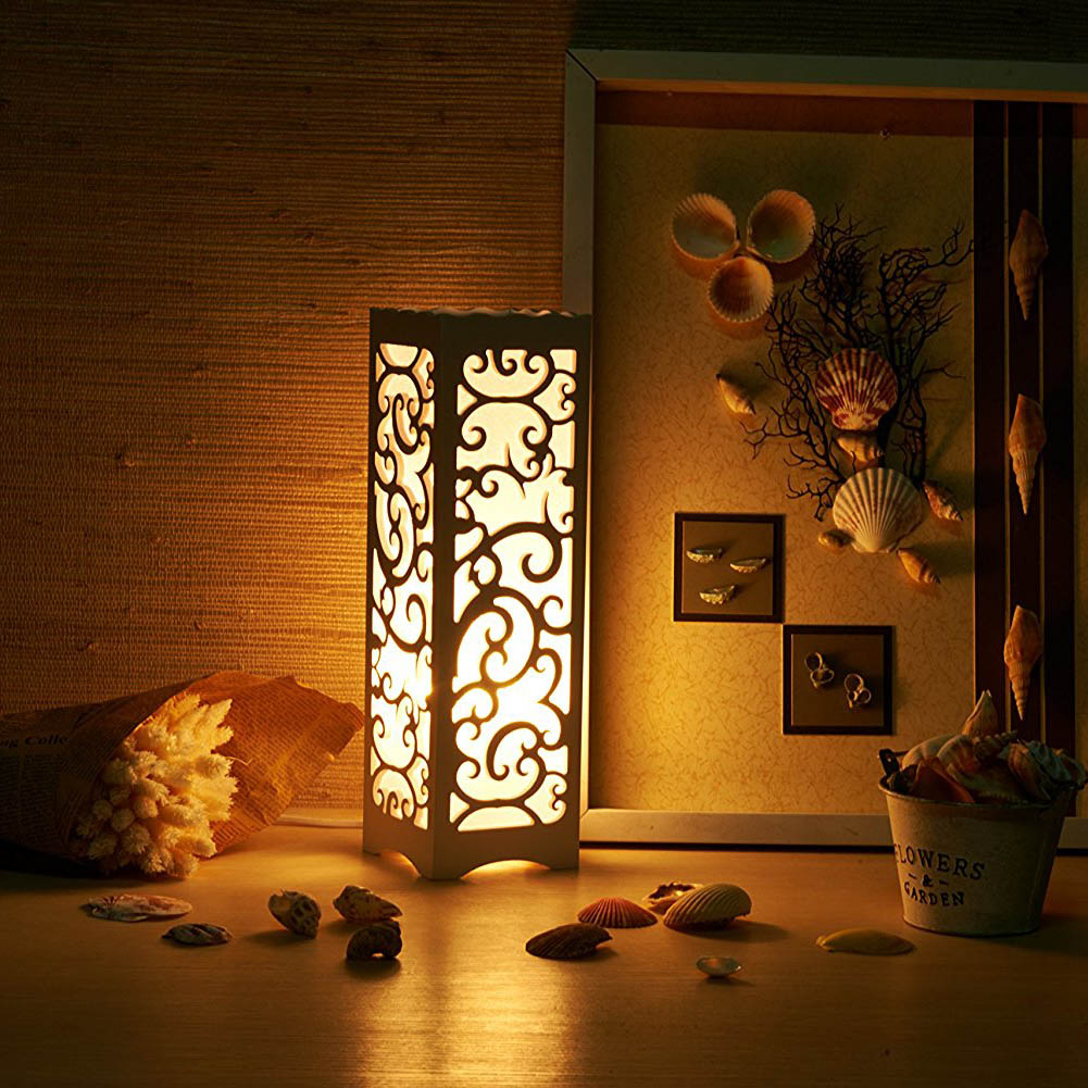Creative Carved Bedroom Night Light Study Room Simple Lamp Living Flower Hollow Lighting