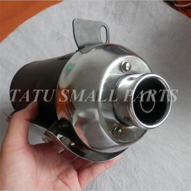 STEEL MUFFLER FOR SMALL ENGINES 20HP-25HP NOISE REDUCER