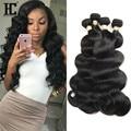 8A Peruana Virgin Hair Body Wave 4 Bundles Bruto Virgen Productos Para El Cabello Rosa Onda Del Cuerpo Peruano Pelo peruano Del Pelo Humano HC