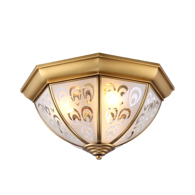 Скляний мідний світло стельовий - Внутрішнє освітлення
