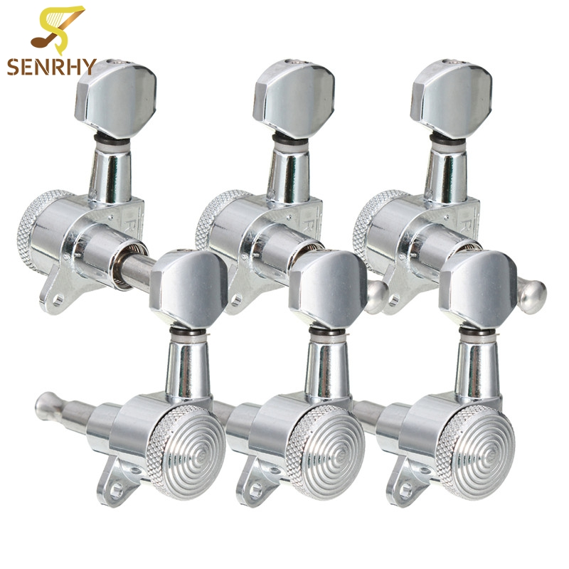 SENRHY 6 pcs/set 3R 3L Chrome Electric Acoustic Guitar String Tuning Pegs Locking Tuners Keys Machine Heads Guitar Accessories new arrival stringed instruments accessories 6 chrome guitar string tuning pegs tuners machine heads acoustic electric h1e1
