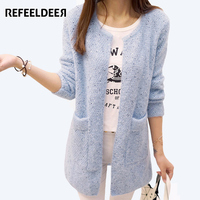 Long Cardigan Women 2016 New Fashion Autumn Winter Sweater Women Long Sleeve Knitted Cardigan Female Tricot
