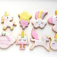 8Pcs/Set Cartoon Animal Cookie Cutter Unicorn Fondant Chocol