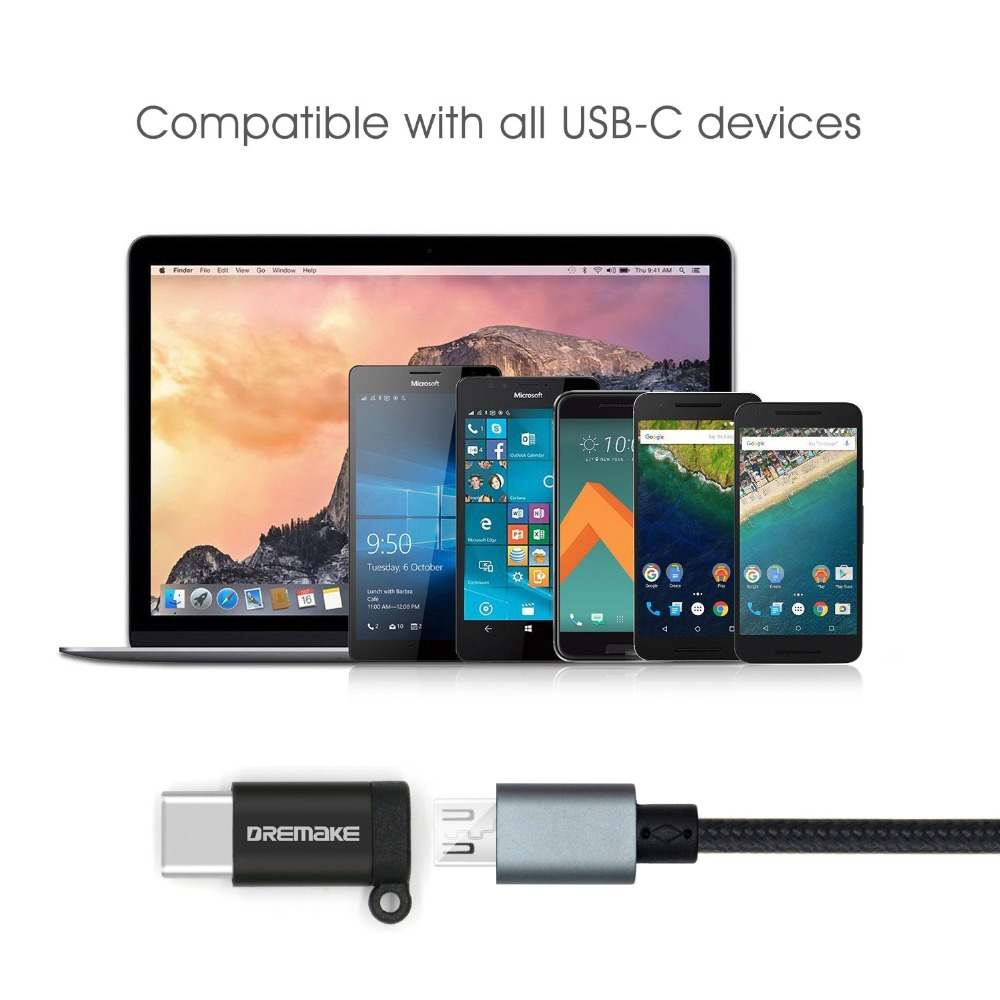 Image 2 - 2PCS USB 2.0 Adapter 2 Pack Type C to Micro USB Adapter Converter for Xiaomi 4C 5 Galaxy 7 Huawei P9 P10 Makbook Nokia N1-in Phone Adapters & Converters from Cellphones & Telecommunications