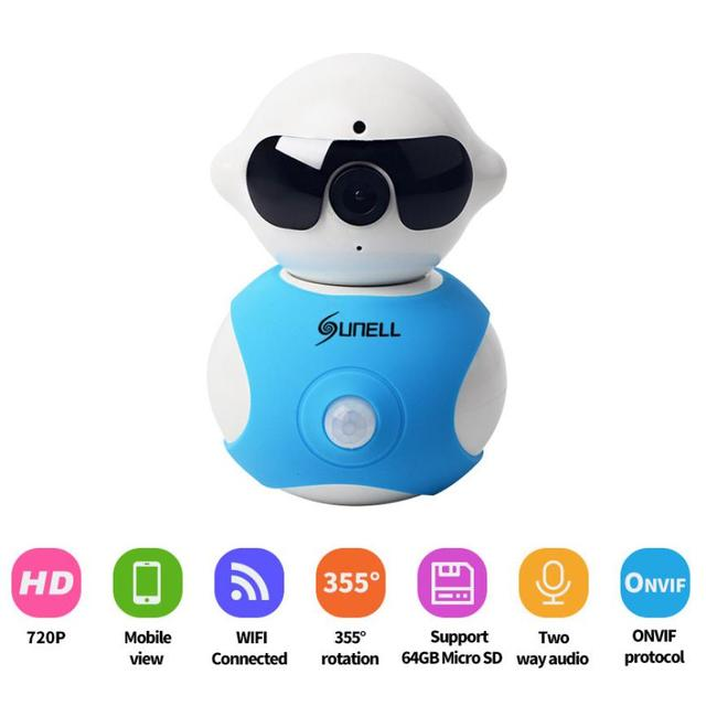 Superior Quality Mini Robot Home Security Surveillance HD Pan and Tilt WiFi Camera mini Camcorders Feb17