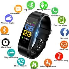 LIGE 2019 New Smart Bracelet Men Women LED Color Screen Watch Sport Fitness Tracker Pedometer waterproof Wristband