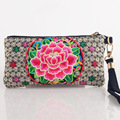 2016 New National Ethnic Embroidery Purse Embroidered small Clutch bag Mobile Phone long wallet Coin bags