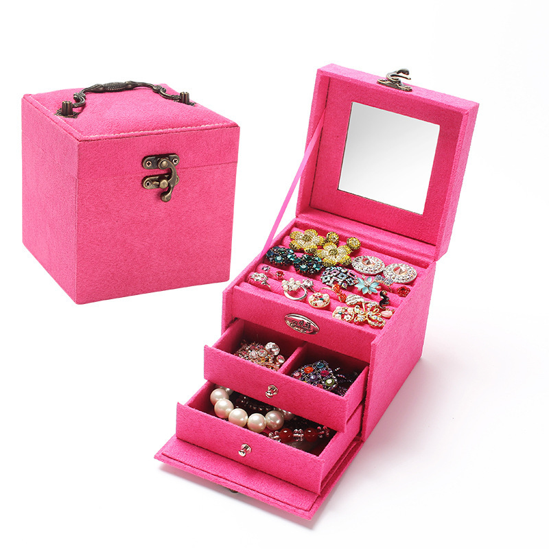 Drop Fashion Jewelry Box 4 Color Birthday Wedding Valentine Gifts S Grown Up Women Day Jewel In Packaging