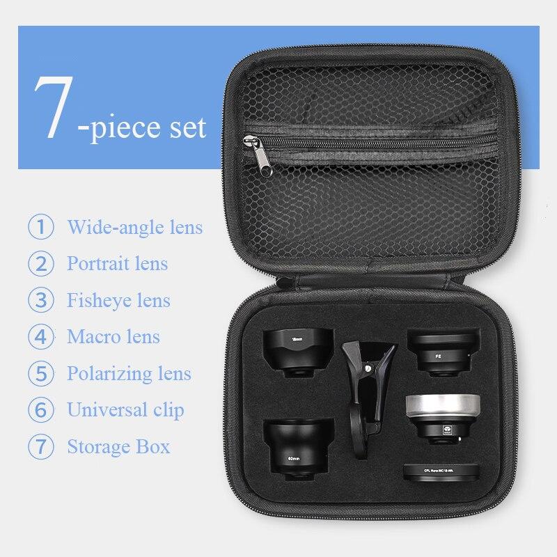SIRUI Mobile Lentille Externe haute-définition REFLEX miroir set universal téléphone portable lentille Macro portrait objectif grand-angle fisheye lentille