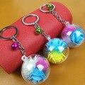Новый Корейский большой прозрачный акриловый шар с внутренней perserveds цветок брелок сумка кулон творческие небольшие подарки