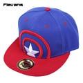 Мода Кости Хлопок Унисекс Шляпу Популярные Модели Капитан Америка Бейсболка Плоским Хип-Хоп Повседневная Snapback Caps