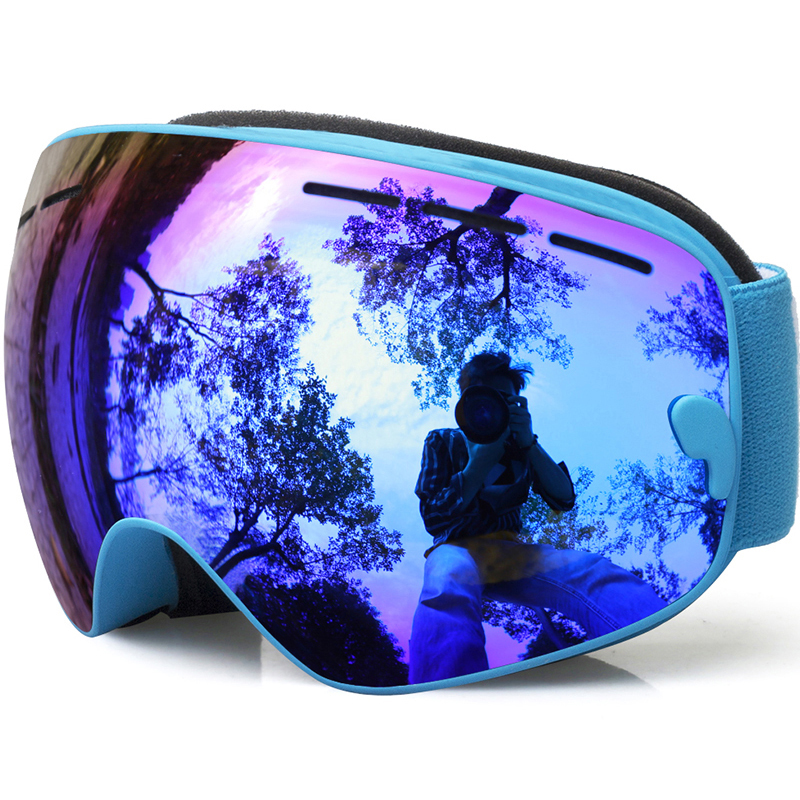 Otroška smučarska očala, dečki za dekleta za sneg, deskar za sneg, večbarvna / dvojna zaščita pred meglo, smučarska očala