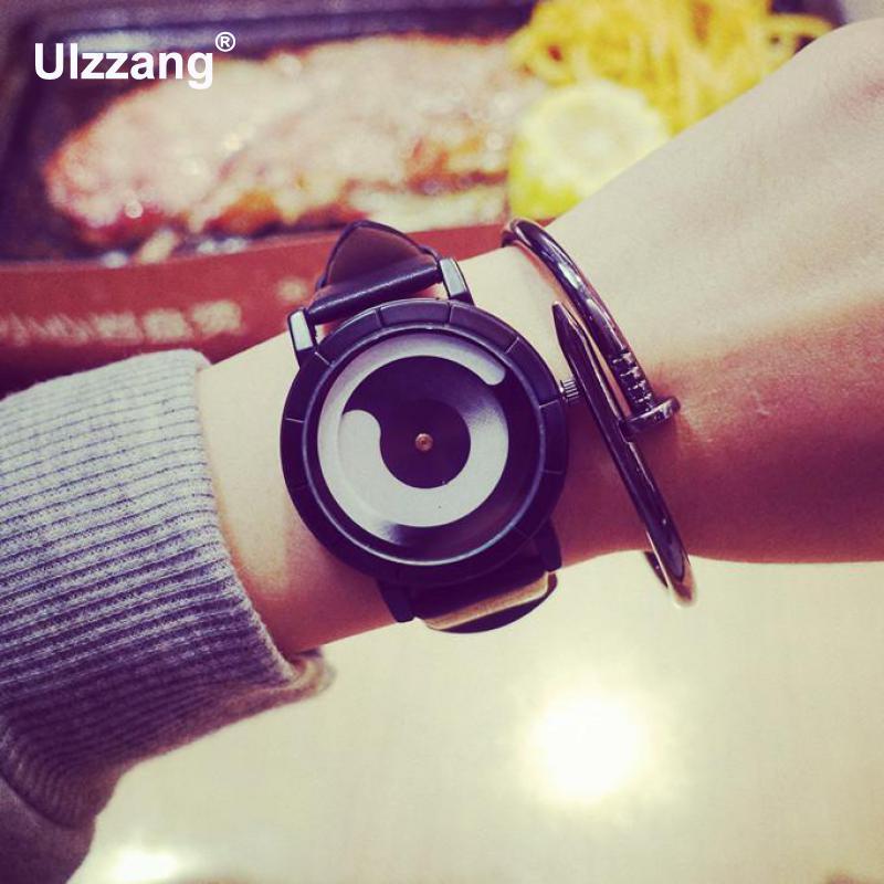 Fashion Black Technology Style Futuristic Women Men Quartz Wristwatches Casual Trendy Students Lady Boys Girls Watch