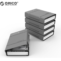 ORICO 5 Bay 3 5 Inch Protective Box Storage Case For Hard Drive HDD Or SDD