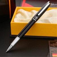 1pc Lot Picasso 916 Roller Ball Pen Black Malaga Silver Clip Canetas Brand Pen Ball Pens