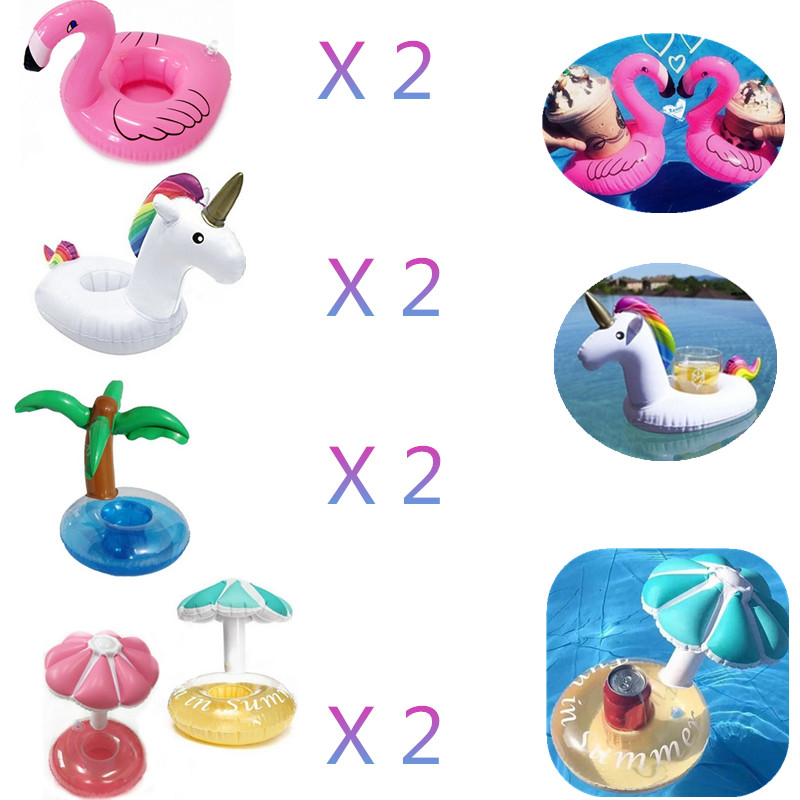 10PCS Mini Floating Inflatable Coasters Drink Cup Holder Cell Phone Stand Table Cup Summer Beach Swim Pool Coaster Dropshipping