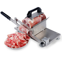 New Manual Control Meat Slicer Stainless For Cutting Beef Mutton sheet Food Kitchen