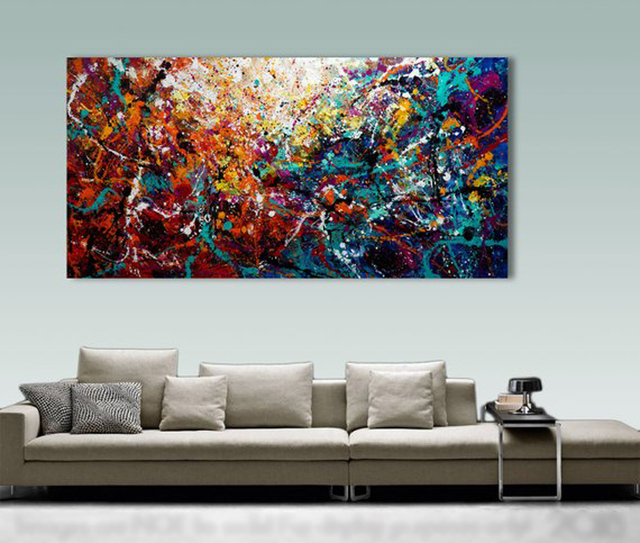 Large Decor Painting Hand Painted Oil Modern Abstract Wall Art Acrylic Oilpainting