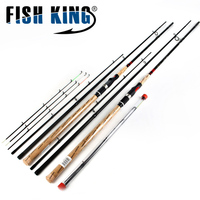 FISH KING Feeder Rod 4 Sections High Carbon Super Power Fishing Rod CW40 120g L M