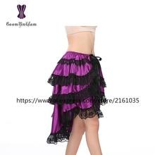 7006# Black and purple women Intimate Half Slips Underwear Skirt Strap Slips Dress With Sheer Purple Sexy Lingerie skirt