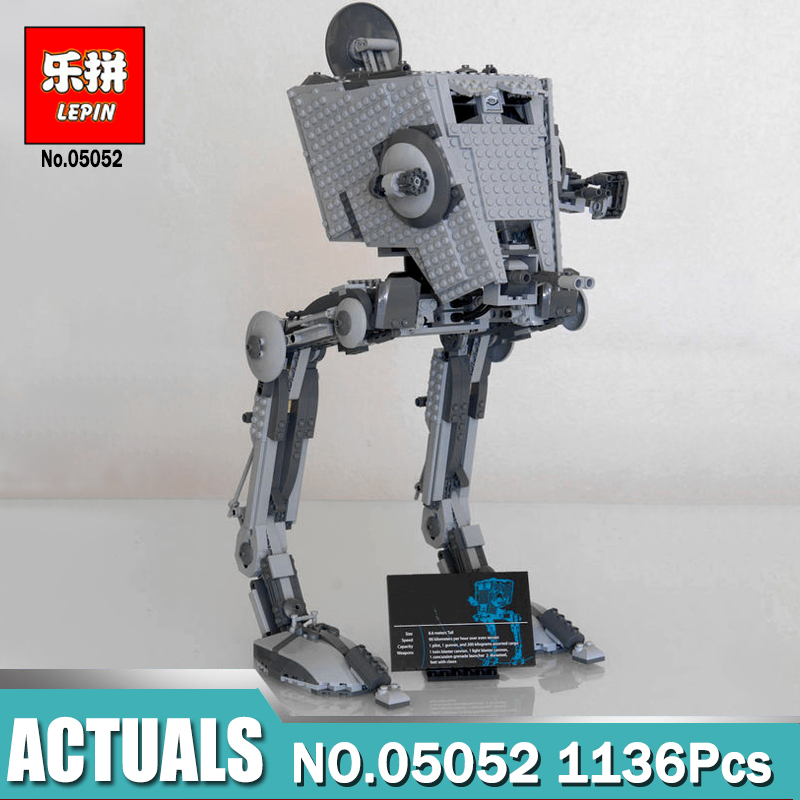 Lepin 05052 Star Series Wars Toy Compatible Legoing 10174 The Out of print AT set ST Building Blocks Children Christmas Gifts dr tong lepin 03060 king of glory one of china romance of the three kingdoms building blocks figures toy for children gifts