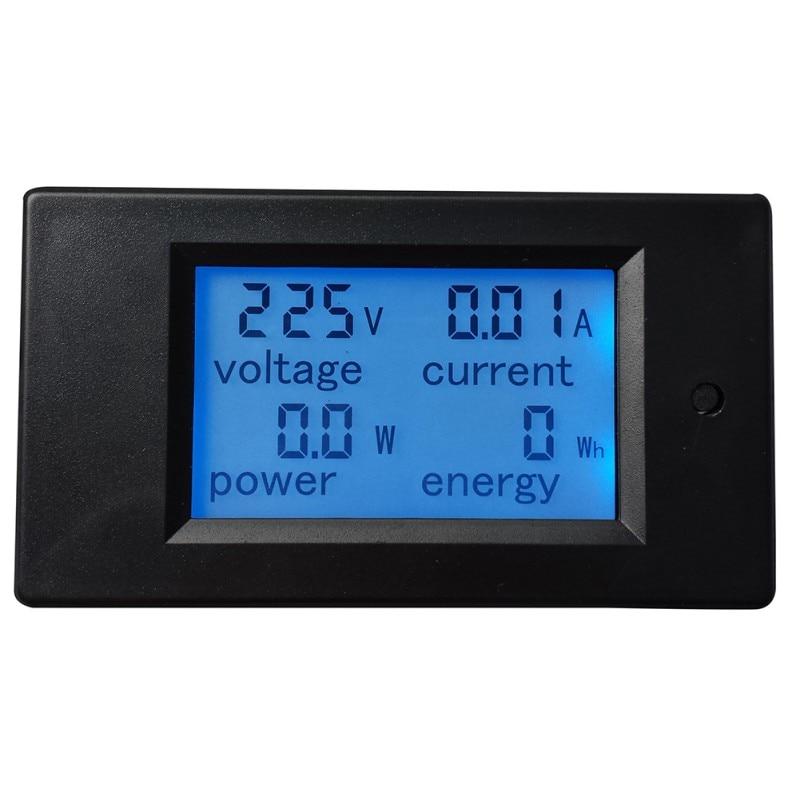 lcd digital volt watt power meter ammeter voltmeter ac 80 260v 20a 1pc AC 80-260V LCD Digital 20A Volt Watt Power Meter Ammeter Voltmeter High Quality