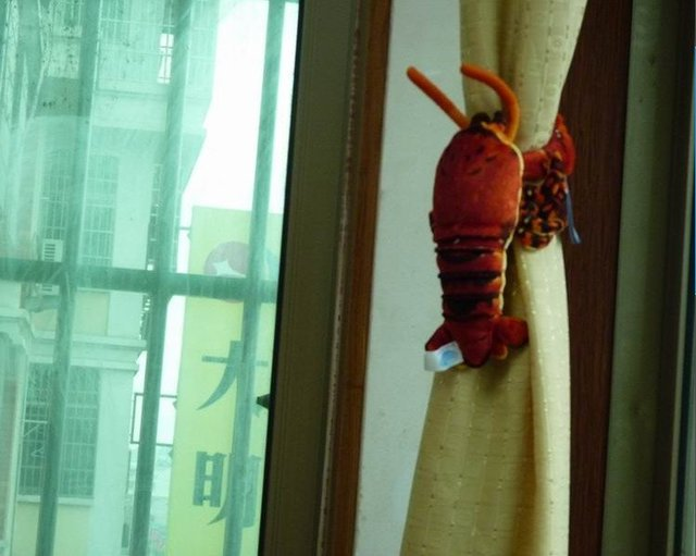2012 Free Shipping Factory Shipment  33cm 4Pcs/Lot Red Lobster  Window Curtain Hook Tieback Curtain Buckle Belt Clamp Clip Hook