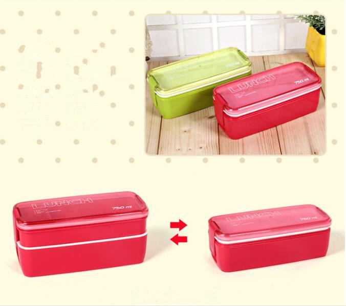New Design 750ml Collapsible Portable Lunch Box Microwave Oven Lunch Bento Boxes Folding Lunchbox Eco-Friendly