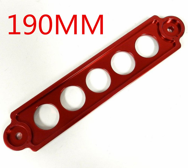 5 отверстия 190 мм красный цвет хром алюминиевых заготовок аккумулятор сковать кронштейн для Toyota BMW - красный