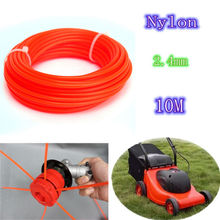 2.4mm*10m Nylon String Trimmer Rope Line .095 for Petrol Strimmers Machine Brush Cutter Tools Nylon Trimmer Line Mayitr