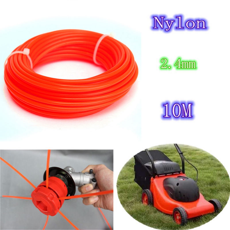 2.4mm*10m Nylon String Trimmer Rope Line .095 for Petrol Strimmers Machine Brush Cutter Tools Nylon Trimmer Line Mayitr nylon line string trimmer head cutting trimmer head for lawn brush cutter strimmers replacement tool parts garden tools mayitr