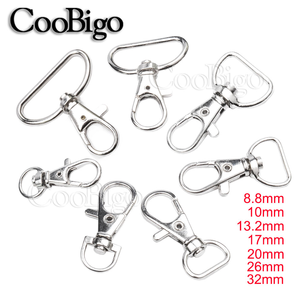 10pcs Swivel Trigger Clips Snap Hooks Lobster Clasps Keychains Bags D Ring