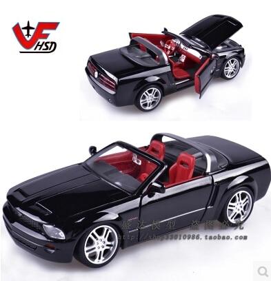 Maisto 1:24 Ford Mustang GT Оригинальный моделирования высокого качества сплава модели автомобиля пара Родстер черный Быстрый & Furious подарок
