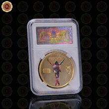 WR Michael Jackson Gold Coins Collectibles Birthday Gifts the King of Pop Gold Plated Commemorative Coin for Souvenir(China)