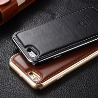 Original IMATCH Case For IPhone 6 6s Case Luxury Aluminum Metal Frame Genuine Leather Back Cover