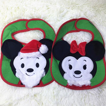 new 1pcs plush cloth cartoon doll Rice pocket Christmas bib mouse Childrens gift