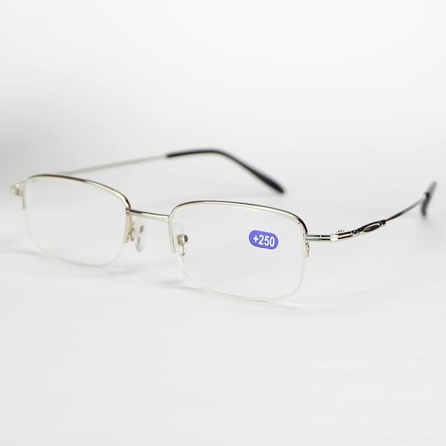 Half Rim Metal Frame Reading Glasses With Presbyopia Lenses For Old ...