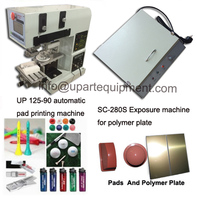 round and square glass bottles small tampo print machine nail polish bottles printing machine and exposure unit for sale