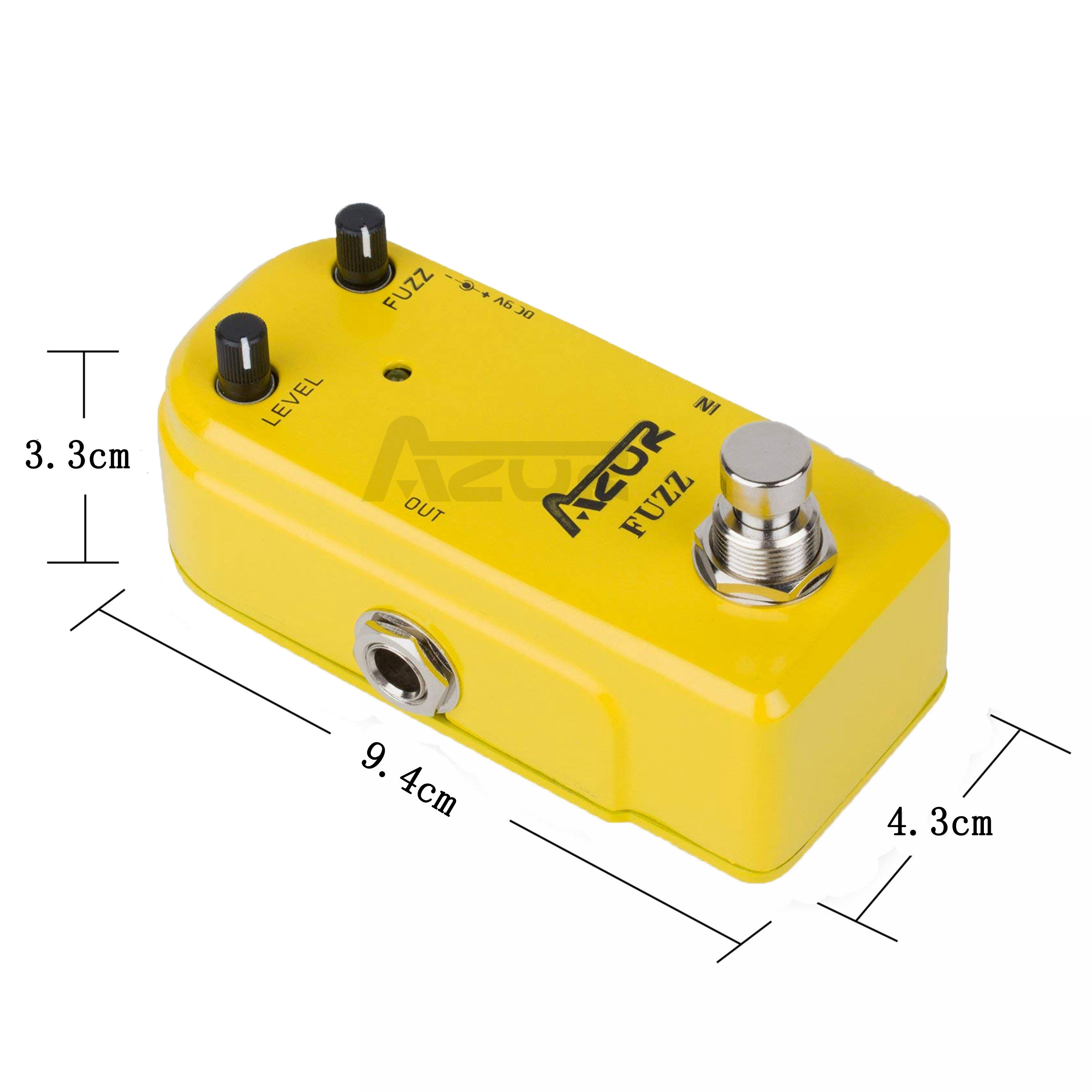AP-310 Fuzz Guitar Effect Pedal Mini Pedal Azor Vintage Fuzz Mini Pedal Effects Guitar Parts Accessories Fuzz Pedal Guitar 9V DC image