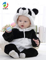TcYct 2017 New Cute Animal Panda One Piece Long Sleeve Cotton Newborn Baby Romper Baby Costume